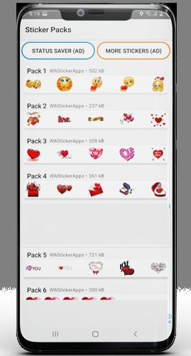 Download WhatsApp Love Stickers
