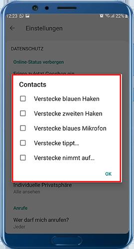 gbwhatsapp pro herunterladen Datenschutzeinstellungen