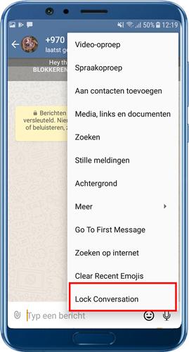 downloaden nswhatsapp Gesprek vergrendelen