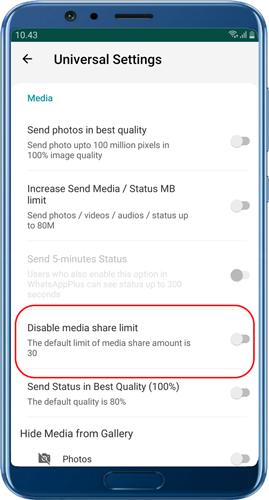 Senden Sie mehr als 30 Bilder