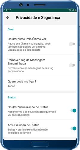 baixar mix whatsapp Configurações de privacidade