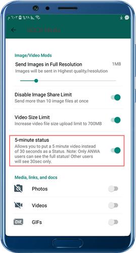 whatsapp altını indir daha uzun durum