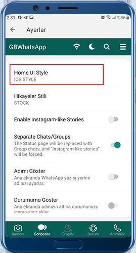 gbwhatsapp pro indir iOS teması