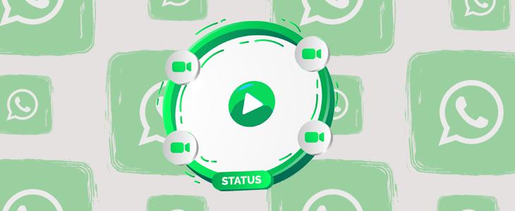 Adicionar vídeo longo no status WhatsApp